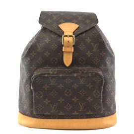 Louis Vuitton-Louis Vuitton Montsouris GM Monogram Canvas-Brown