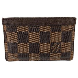 Louis Vuitton-Louis Vuitton Brown Damier Ebene Card Holder-Brown