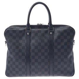 Louis Vuitton-Louis Vuitton Porte Documents Voyage-Black