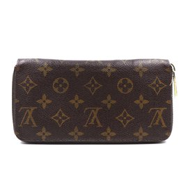Louis Vuitton-Louis Vuitton Monogram Zippy Long Organizer Wallet-Brown