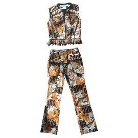 Dior-tailleur pantalon-Multicolore