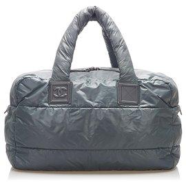 Chanel-Chanel Gray Cocoon Nylon Tote Bag-Grey