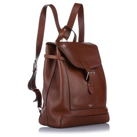 Mulberry-Mulberry Brown Chiltern Leather Backpack-Brown