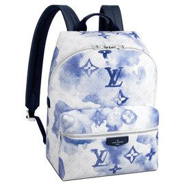 Louis Vuitton-LV backpack discovery watercolor-Blue