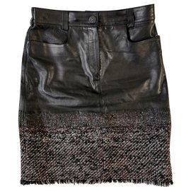 Chanel-Skirt-Black
