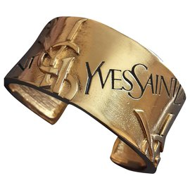 Yves Saint Laurent-YVES SAINT LAURENT.  cuff.-Gold hardware