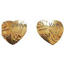 Yves Saint Laurent-YVES SAINT LAURENT.  Earrings ( Clips ).-Gold hardware