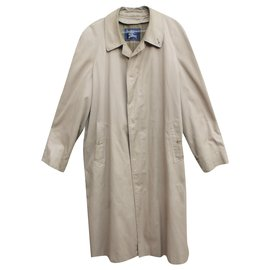 Burberry-Burberry vintage men's raincoat with removable wool insert-Beige