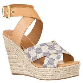 Louis Vuitton-LV wedge sandals new-Beige