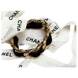 Chanel-Chain and velvet bracelet-Gold hardware