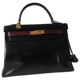 Hermès-Hermès Kelly Bicolor bag-Black