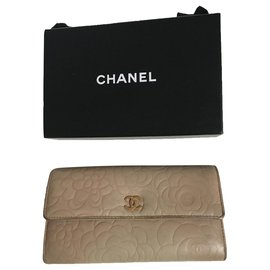 Chanel-Camellia-Beige,Sand,Gold hardware