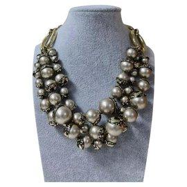 Dior-Collier de perles en métal doré Dior-Doré