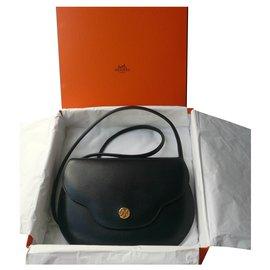 "Hermès-HERMES - BLACK ""LIFT"" BAG Rare model CALF BOX 1994-Black"