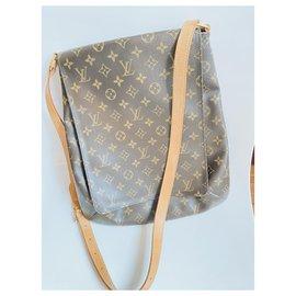 Louis Louise-Handbags-Brown,Beige,Gold hardware
