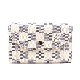 Louis Vuitton-Louis Vuitton Damier Azur Pochette Bum Solo Belt Wallet-White