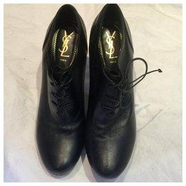 Yves Saint Laurent-YSL Rive Gauche tribute Fatale bootie-Black