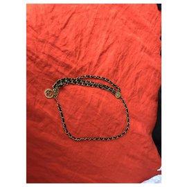 Chanel-Chanel vintage belt-Black