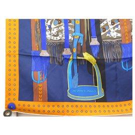 Hermès-hermes saddle dignitary-Orange