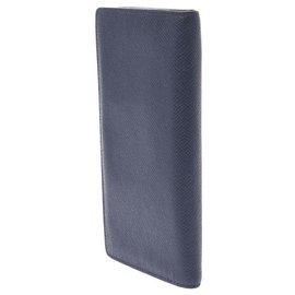 Louis Vuitton-Louis Vuitton Brazza (cuir Taïga)-Navy blue