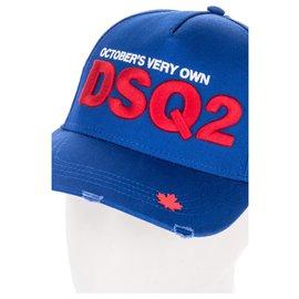 Dsquared2-Dsquared2 x OVO Logo Cap-Blue