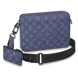 Louis Vuitton-LV Duo messenger shadow blue-Blue