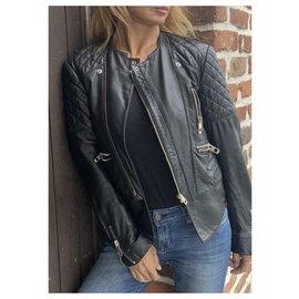 Balenciaga-Biker jackets-Black