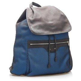 Balenciaga-Balenciaga Blue Motocross Classic Traveler S Backpack-Blue