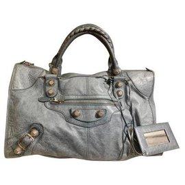 Balenciaga-Authentic Balenciaga Giant Work bag in storm color-Grey