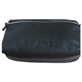 Chanel-Pouch or toiletry bag-Black