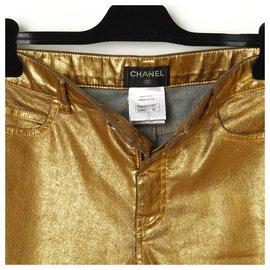 Chanel-PARIS DUBAI 15C GOLD DENIM FR40-Golden