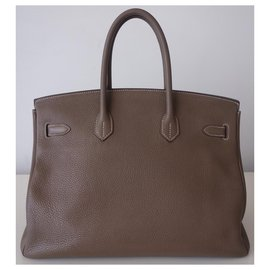 Hermès-HERMES BIRKIN BAG 35 etoupe-Grey