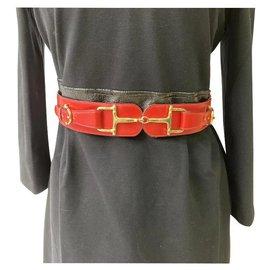 Céline-Belts-Red