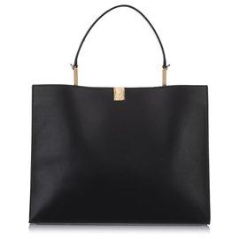 Balenciaga-Balenciaga Black Le Dix Leather Satchel-Black