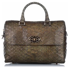 Mulberry-Mulberry Brown Python Embossed Lily Handbag-Brown,Multiple colors