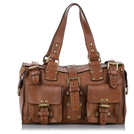 Mulberry-Mulberry Brown Roxanne Leather Handbag-Brown