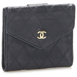 Chanel-Chanel Black Wild Stitch Leather Small Wallet-Black