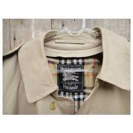 Burberry-men's Burberry vintage t trench coat50 with removable wool lining-Beige