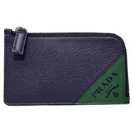 Prada-Prada zipped wallet new-Blue