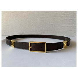 Chanel-Belts-Dark brown,Gold hardware
