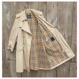 Burberry-Burberry vintage men's trench coat size M-Beige
