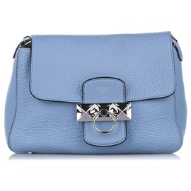 Mulberry-Mulberry Blue Mini Keeley Leather Shoulder Bag-Blue,Light blue