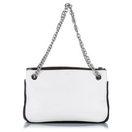 Mulberry-Mulberry White Leather Shoulder Bag-White,Purple