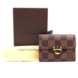 Louis Vuitton-Louis Vuitton Damier Ebene Koala Card Wallet-Brown
