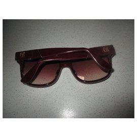 Emmanuelle Khanh-Sunglasses-Dark red