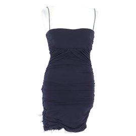 Pinko-robe-Navy blue