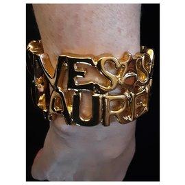 Yves Saint Laurent-YVES SAINT LAURENT.  Saint Laurent cuff.-Gold hardware