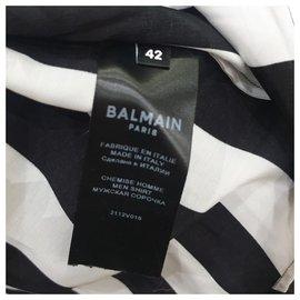 Pierre Balmain-Balmain Striped shirt-Black,White