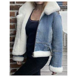 Balenciaga-Jackets-Light blue