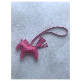 Hermès-Hermès rodeo new pink leather-Pink